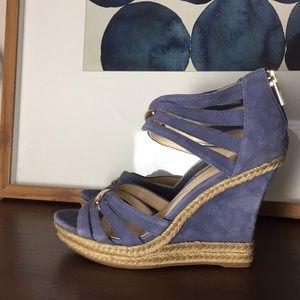ISOLA Blue Suede Strap Wedge Shoe Sandal